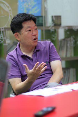 KIM Hyun-seok, dirigeant de Bookpal (© Arnaud Vojinovic)